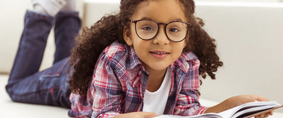 School Child with Glasses